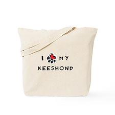 I *heart* My Keeshond Tote Bag