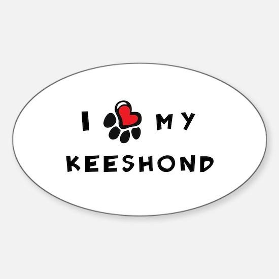 I *heart* My Keeshond Sticker (Oval)