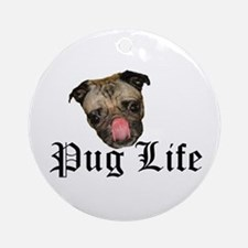 Chewie Pug Life Ornament (Round)
