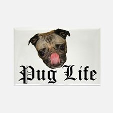Chewie Pug Life Rectangle Magnet