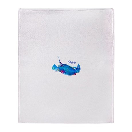 Stingray in Bold Colors Throw Blanket