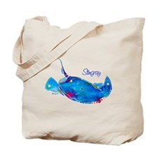 Stingray in Bold Colors Tote Bag