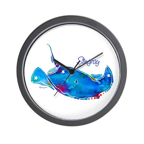 Stingray in Bold Colors Wall Clock