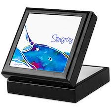 Stingray in Bold Colors Keepsake Box