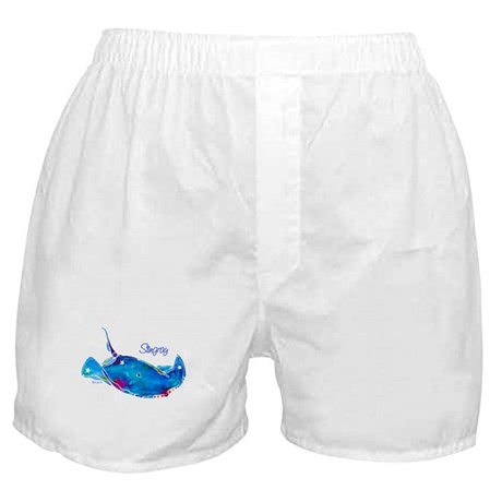 Stingray in Bold Colors Boxer Shorts
