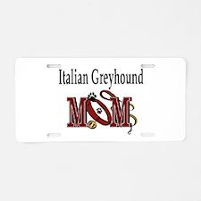Italian Greyhound Gifts Aluminum License Plate