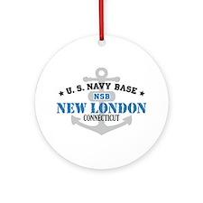 US Navy New London Base Ornament (Round)