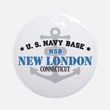 US Navy New London Base Ornament (Round)