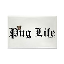 Super Pug Life Rectangle Magnet