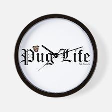 Super Pug Life Wall Clock