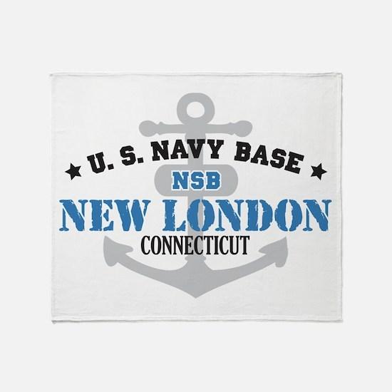 US Navy New London Base Throw Blanket