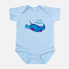 I LOVE STINGRAYS Infant Bodysuit