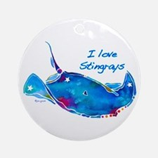 I LOVE STINGRAYS Ornament (Round)