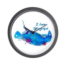I LOVE STINGRAYS Wall Clock