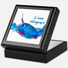 I LOVE STINGRAYS Keepsake Box