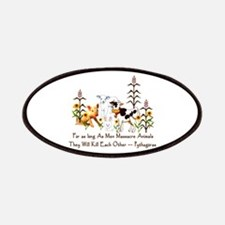 Pythagoras Vegetarian Quote Patches