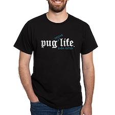 Pug Rescue Life Black T-Shirt