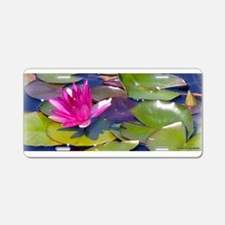 Waterlily Detail Aluminum License Plate