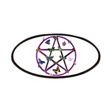 Wiccan Star and Butterflies Patches
