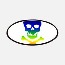 Rainbow Skull Patches