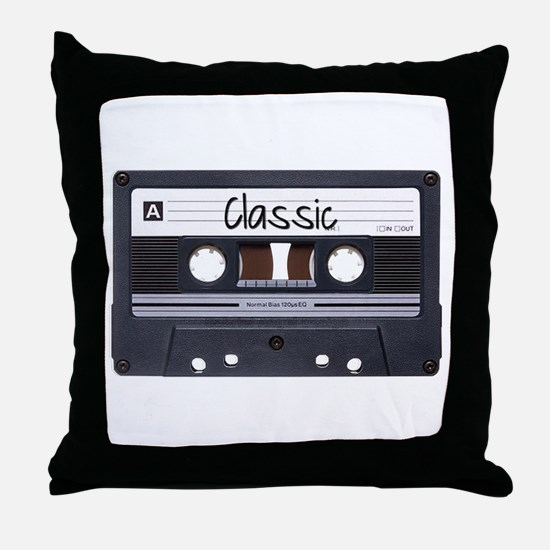 Classic Cassette Throw Pillow