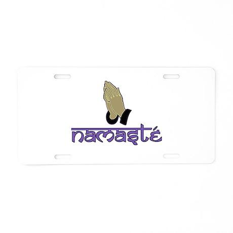 Namaste purple Aluminum License Plate