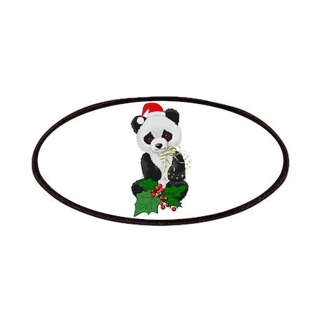 Christmas Panda Patches