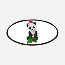 Christmas Panda Patches