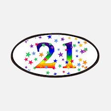 Rainbow Stars 21st Birthday Patches