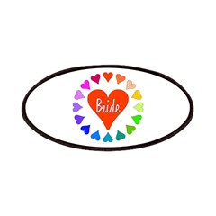 Rainbow Hearts Bride Patches