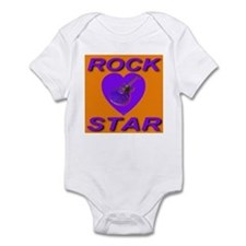 Rock Star Heart Florida Orang Infant Creeper