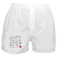 Love Everywhere! Boxer Shorts