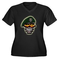 US Army Special Forces Skull Women's Plus Size V-N
