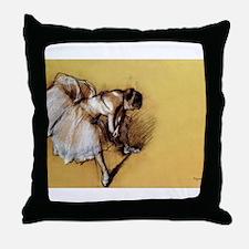 Degas' Dancer Adjusting Her S Throw Pillow