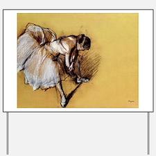 Degas' Dancer Adjusting Her S Yard Sign