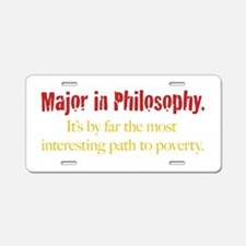 Major in Philosophy Aluminum License Plate