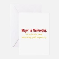 Major in Philosophy Greeting Cards (Pk of 20)