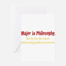 Major in Philosophy Greeting Cards (Pk of 10)