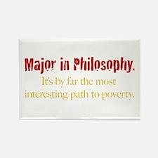Major in Philosophy Rectangle Magnet (10 pack)