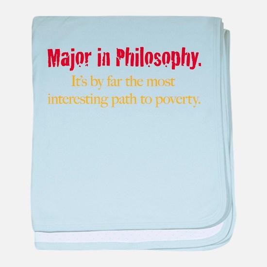 Major in Philosophy baby blanket
