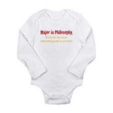 Major in Philosophy Long Sleeve Infant Bodysuit