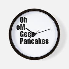 OMGPancakes - Wall Clock