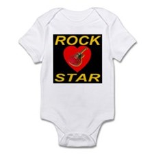Rock Star Heart Midnight Blac Infant Creeper