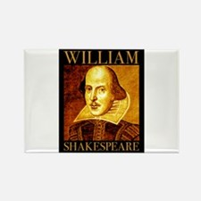 William Shakespeare Rectangle Magnet (10 pack)