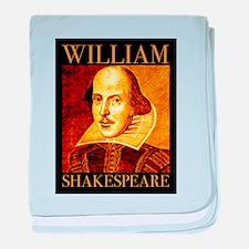 William Shakespeare baby blanket