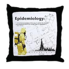 Epidemiology Inspirational Quote Throw Pillow