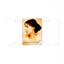 Virginia Woolf Aluminum License Plate