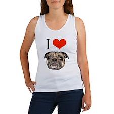 i <3 Pugs Women's Tank Top