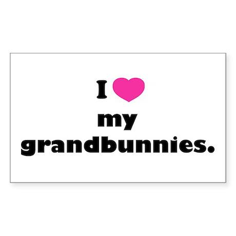 I love my grandbunnies. Sticker (Rectangle)