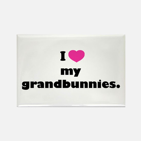 I love my grandbunnies. Rectangle Magnet